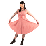 OPHIA | 50's PINK & WHITE CHECK DRESS
