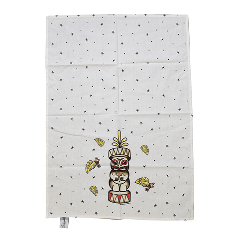 SOURPUSS | TIKI TOTEM TEA TOWEL - Off Ya Tree