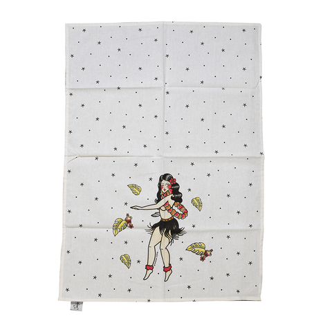 SOURPUSS | HULA GIRL TEA TOWEL - Off Ya Tree