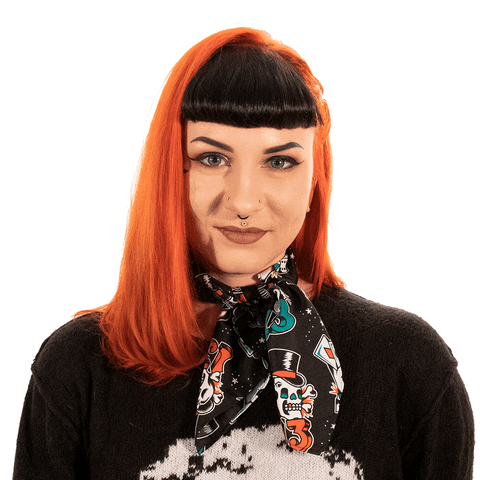 SOURPUSS | LUCKY ROSIE 13 - CARDS - DICE SCARF