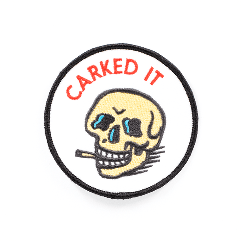 BLC | CARKED IT SMOKING SKULL PATCH