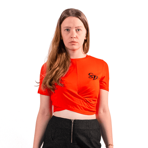 SWEET VENGEANCE | SV EMBROIDED RED CROP