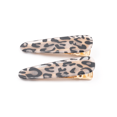 OPHIA | DOUBLE TROUBLE LEOPARD PRINT CLIPS