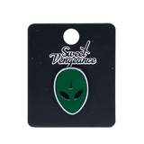 SWEET VENGEANCE | GREEN ALIEN ENAMEL PIN - Off Ya Tree
