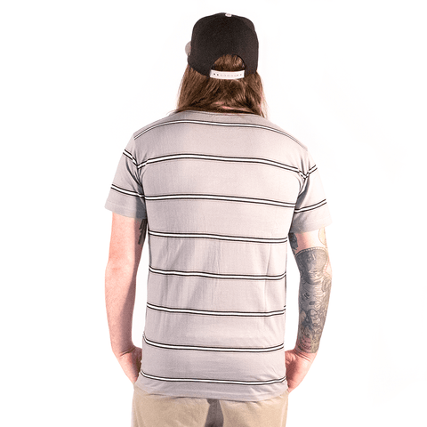 DVNT | GREY STRIPED TEE