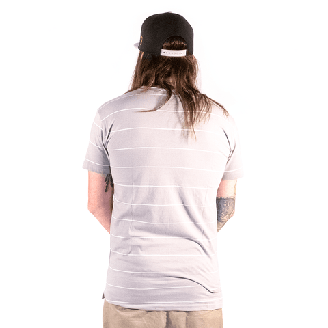 DVNT | NEAT GREY STRIPE T-SHIRT - Off Ya Tree