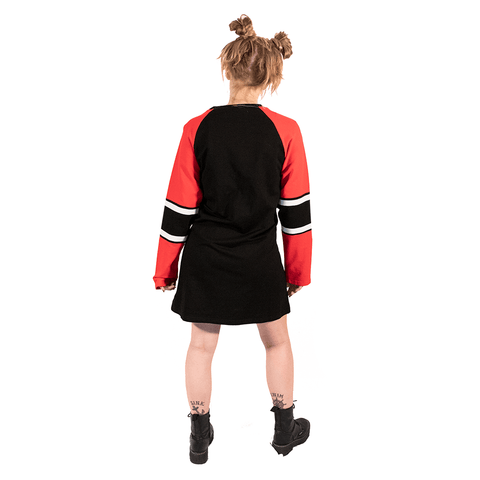 SWEET VENGEANCE | RED & BLACK JERSEY DRESS - Off Ya Tree
