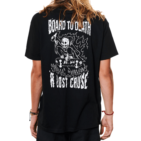 A LOST CAUSE | BOARD TO DEATH LATER T-SHIRT - Off Ya Tree