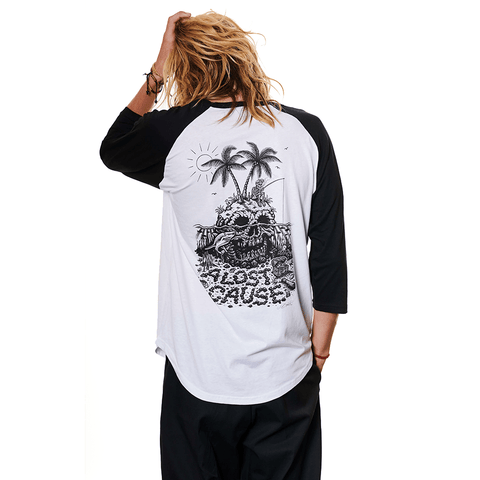A LOST CAUSE | SKULL ISLAND RAGLAN - Off Ya Tree