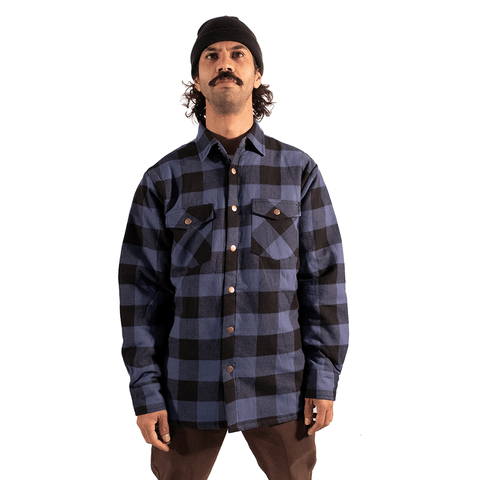 TREE HOUSE CLOTHING | BLUE SOFT PADDED FLANNEL JACKET - Off Ya Tree