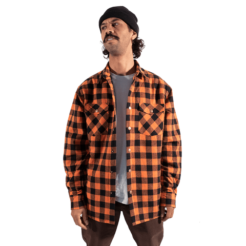 TREE HOUSE CLOTHING | ORANGE SOFT PADDED FLANNEL JACKET - Off Ya Tree