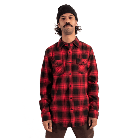 TREE HOUSE CLOTHING | RED FLANNEL LONG SLEEVE SHIRT - Off Ya Tree