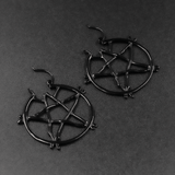 SWEET VENGEANCE | BLACK TWIG PENTAGRAM EARRINGS