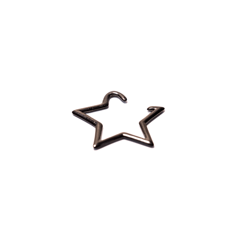 BLACK STEEL STAR SHAPED HANGER