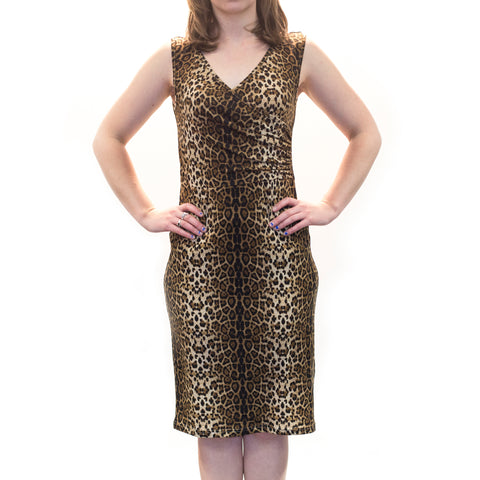 Leopard Print Pin Up Dress