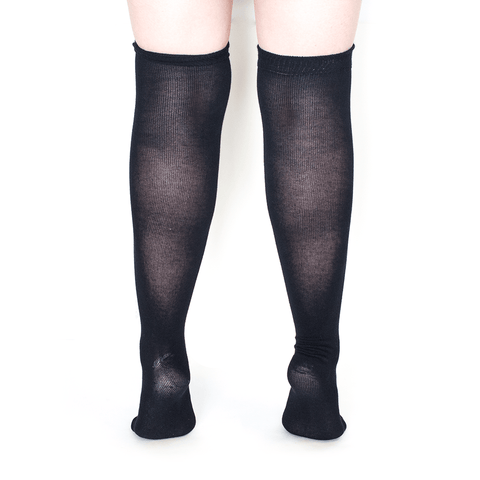 BLACK OVER THE KNEE SOCKS