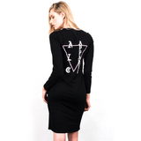 A LOST CAUSE EAST LONGSLEEVE DRESS