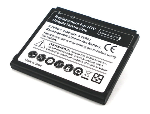 Google Nexus One Battery also fit HTC Desire / HTC Bravo-BA S410 / BB99100 / Replacement - Evertop Accessories Shop