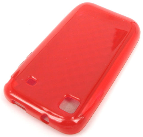 Samsung Galaxy S i9000 Protective TPU Soft Skin Case / Premium Quality / Red - Evertop Accessories Shop