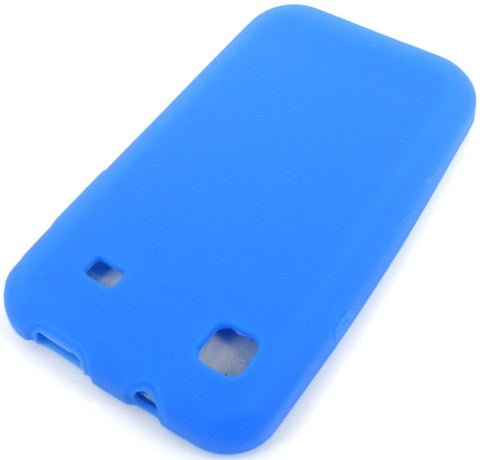 Samsung Galaxy S i9000 Protective Silicone Soft Skin Case / Blue - Evertop Accessories Shop
