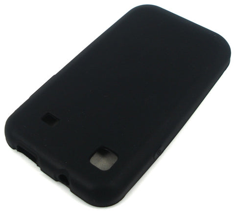Samsung Galaxy S i9000 Protective Silicone Soft Skin Case / Black - Evertop Accessories Shop