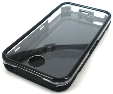 iPhone 4 Plastic Case / Full Front Back & all round Protective Case / Black - Evertop Accessories Shop