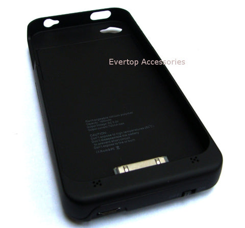 iPhone 4 Extended Life Battery Pack with USB Cable / Li-Polymer 1800mAh Extended Capacity / iPhone 4 /4s - Evertop Accessories Shop
