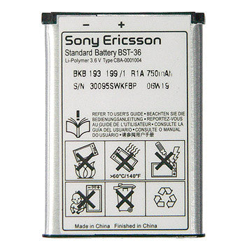 Sony Ericsson BST-36 Battery for W350i / W200 / K510 / T280i / Original / BST36 - Evertop Accessories Shop