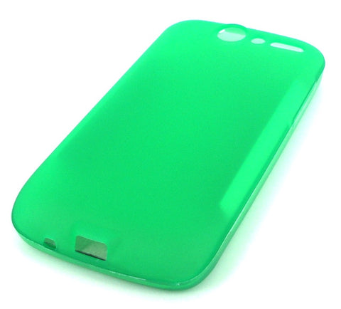 HTC Desire Protective Silicone Skin Case / Green - Evertop Accessories Shop