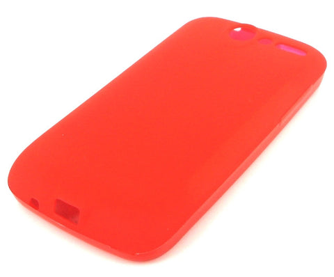 HTC Desire Protective Silicone Skin Case / Red - Evertop Accessories Shop