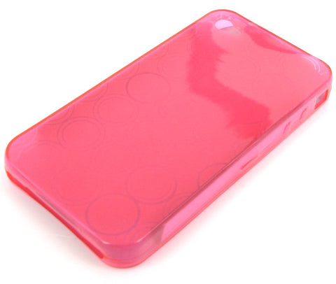 iPhone 4 Protective TPU Soft Skin Case / Transparent Pink - Evertop Accessories Shop