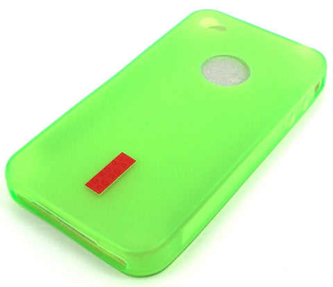 iPhone 4 Protective Silicone Skin Case / with Logo Cutout / Lime Green - Evertop Accessories Shop