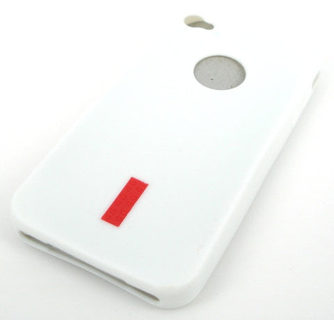 iPhone 4 Protective Silicone Skin Case / with Logo Cutout / White - Evertop Accessories Shop