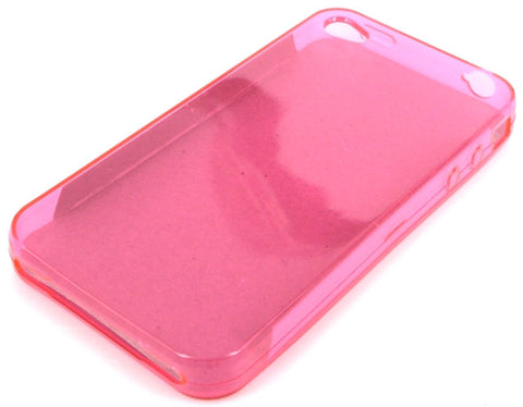 iPhone 4 Protective TPU Clear Skin Case / Transparent Pink - Evertop Accessories Shop