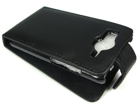 HTC Desire HD A9191 Premium Quality Genuine Leather Carry Case / Black - Evertop Accessories Shop