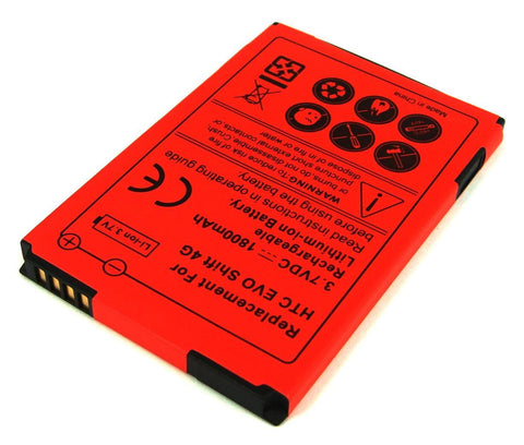 Extended Life Battery For HTC Imagio, T-Mobile Dash 3G, HTC Captain 1800mAh - Evertop Accessories Shop