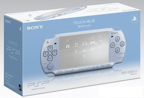 New Sony PSP 2000 Slim & Lite in Felicia Blue PSP-2000 FB - Evertop Accessories Shop