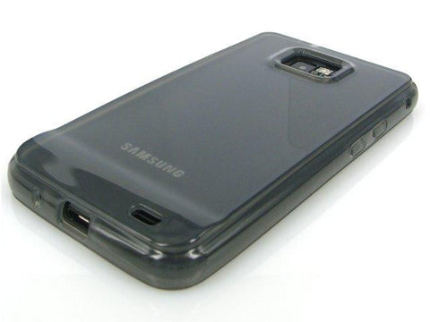 Samsung Galaxy S2 i9100 FlexiShield Protective Gel Skin Case / Tinted Black - TPU - Evertop Accessories Shop