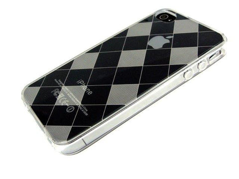 iPhone 4S & iPhone 4 FlexiShield Skin Case / Trasparent / Checkered Pattern New - Evertop Accessories Shop