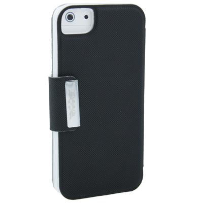 Apple iPhone 5 Ultra-thin Touch Leather Case with Pebble pattern in Black colour - Evertop Accessories Shop