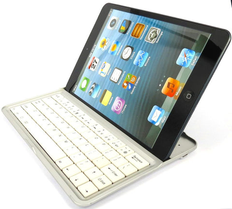 Wireless Keyboard for Apple iPhone and iPad Mini with Stand - Black - White - Evertop Accessories Shop