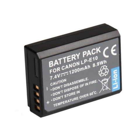 Canon EOS 1100D Battery LP-E10 1200mAh Also Fit EOS Kiss X50 - LPE10 - Evertop Accessories Shop