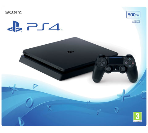 SONY Playstation 4 PS4 Slim Game Console in Jet Black 500GB UK PAL