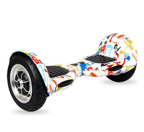 "Urban Graffiti 10"" XSR Hoverboard Swegway Built-in Bluetooth Speaker + UL CE Approved Charger"
