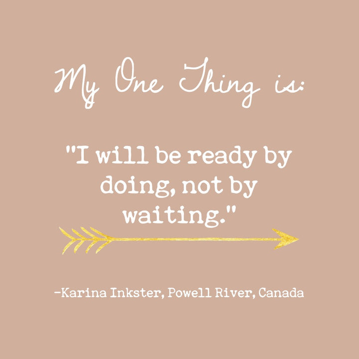 Karina Inkster's One Thing