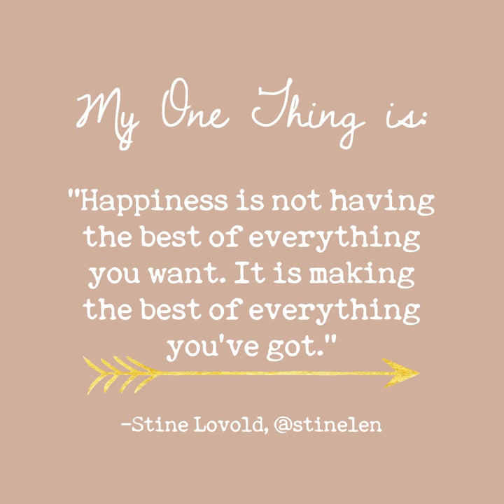 Stine Lovold's One Thing