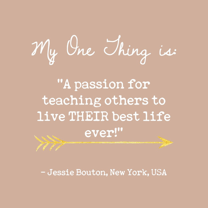 Jessie Bouton's One Thing