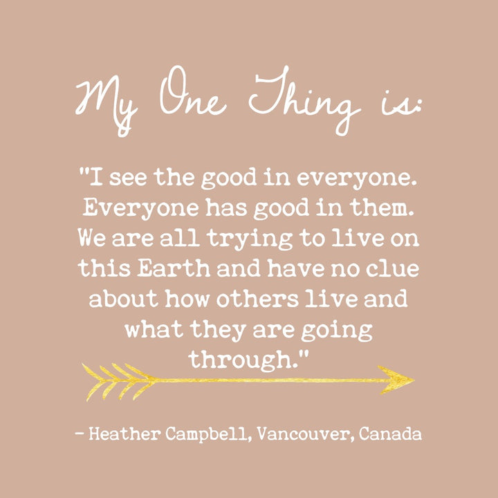 Heather Campbell's One Thing