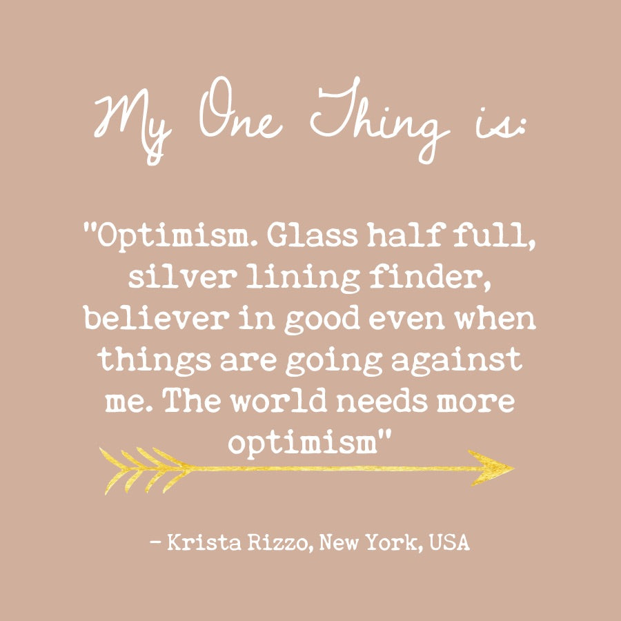 Krista Rizzo's One Thing