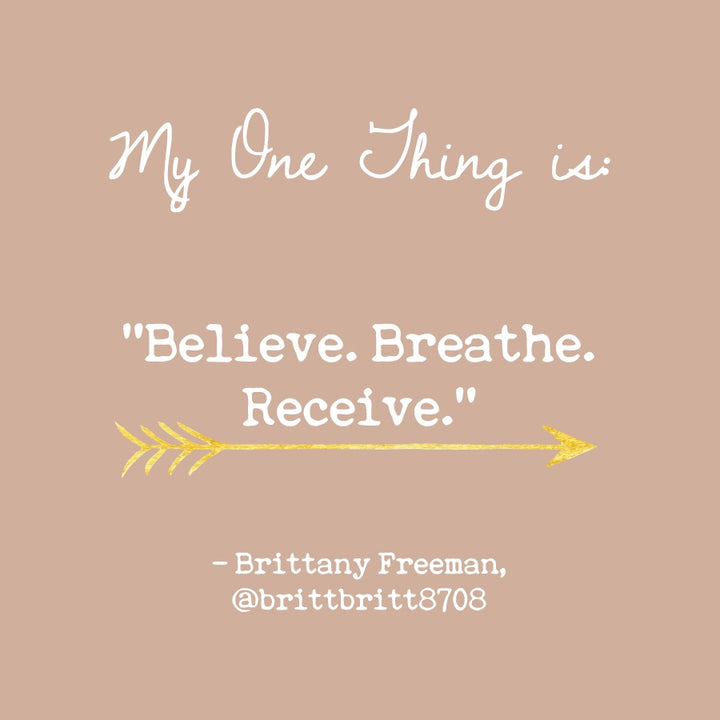 Brittany Freeman's One Thing